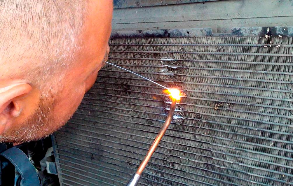 Сварка радиатора кондиционера